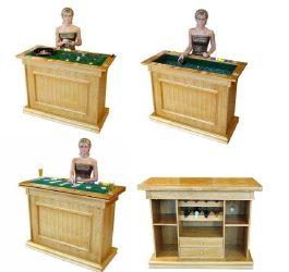 PB-1006 Póker-rulett asztal és bárpult